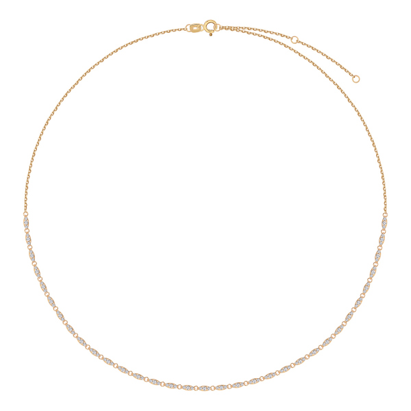 złoty łańcuszek z cyrkoniami YES