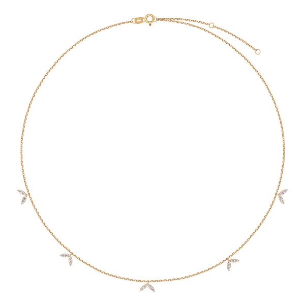 złoty łańcuszek z cyrkonia1mi kolekcja Lunaria YES