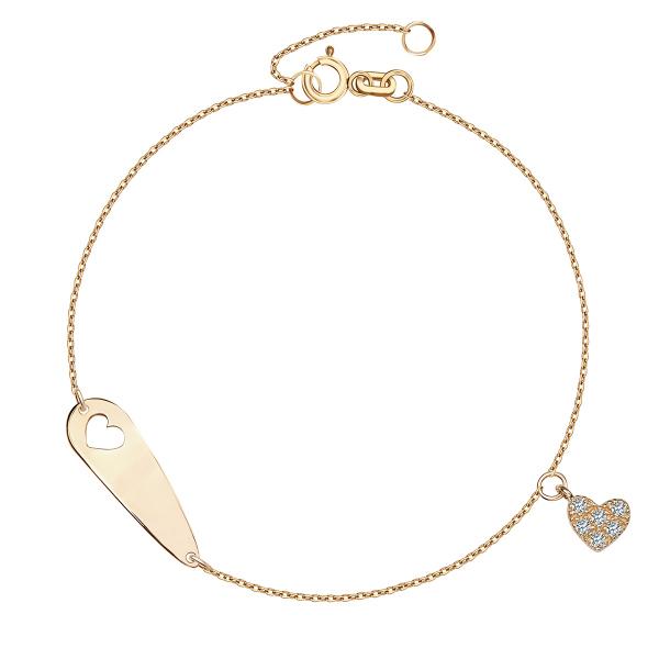Zdjęcie Mini - bransoletka złota z cyrkoniami  #1