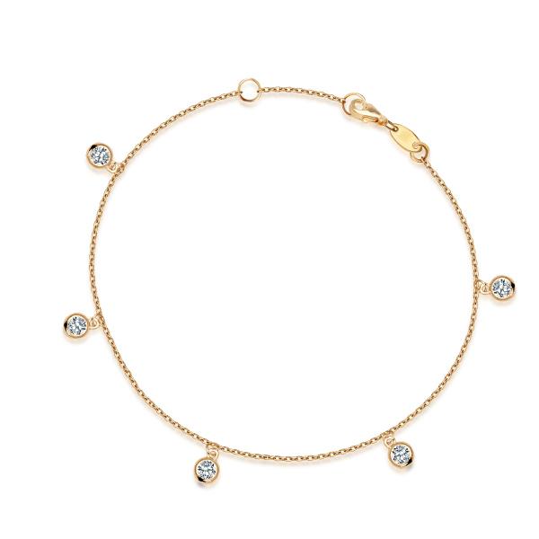 Zdjęcie Mystery - bransoletka z żółtego złota z cyrkoniami #1