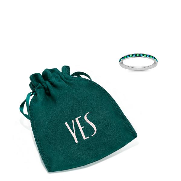 Zdjęcie YES Rings - pierścionek z białego złota z cyrkoniami #2