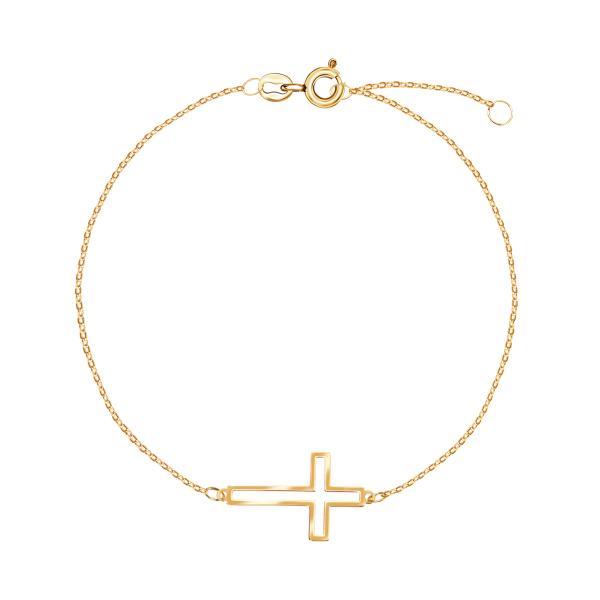 bransoletka-złota-krzyż-1