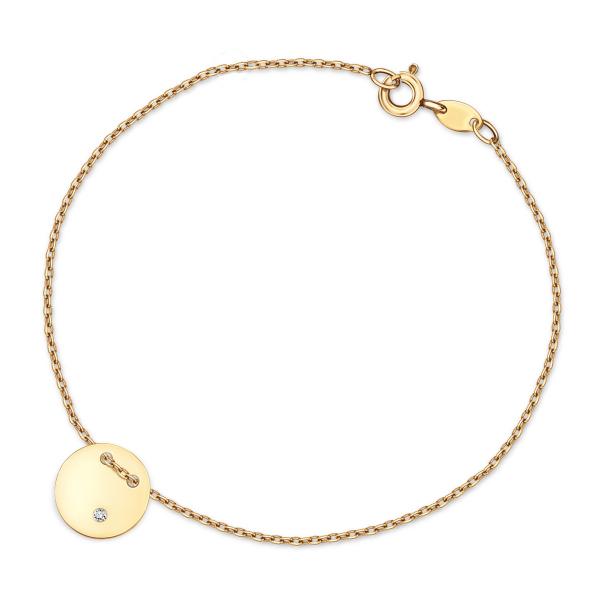Zdjęcie Złota bransoletka z diamentem #1