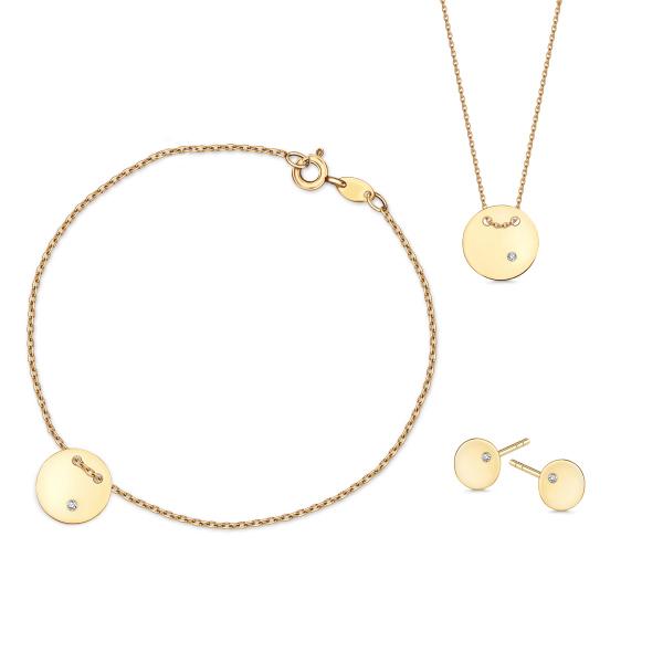 Zdjęcie Złota bransoletka z diamentem #4