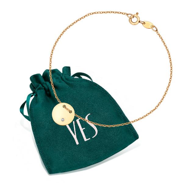 Zdjęcie Złota bransoletka z diamentem #3