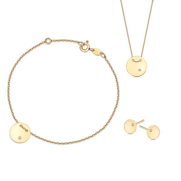 Zdjęcie Złoty naszyjnik z diamentem #5