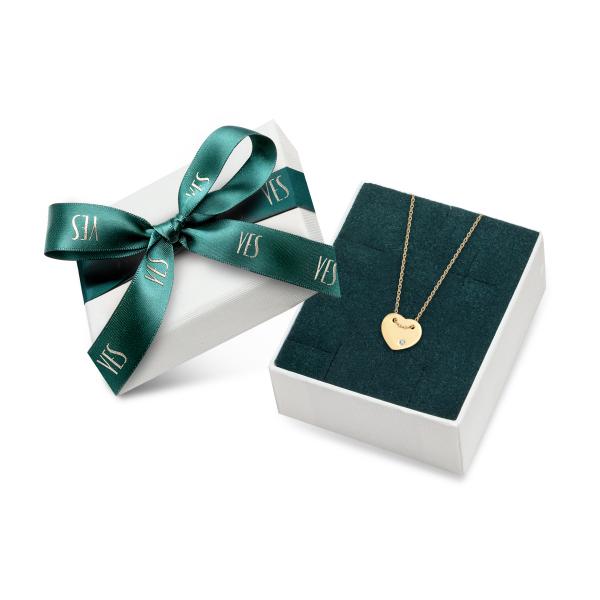Zdjęcie Złoty naszyjnik z diamentem #2