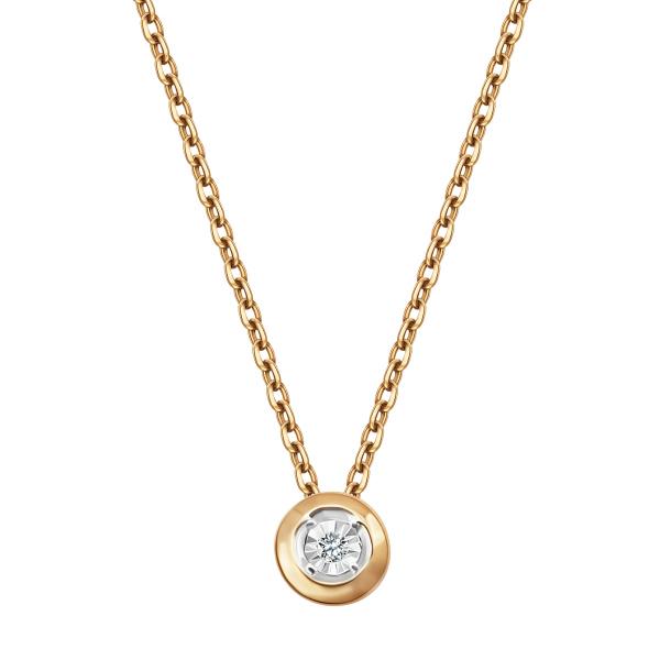 Zdjęcie Naszyjnik z żółtego złota z diamentem #1