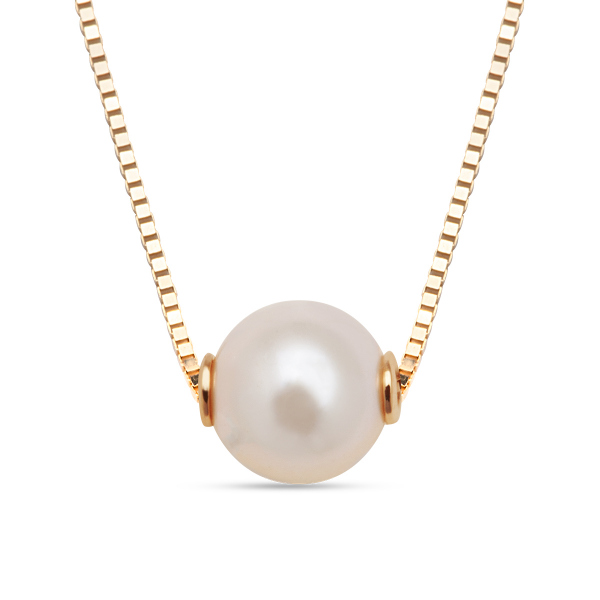 Zdjęcie Złoty naszyjnik z perła #1