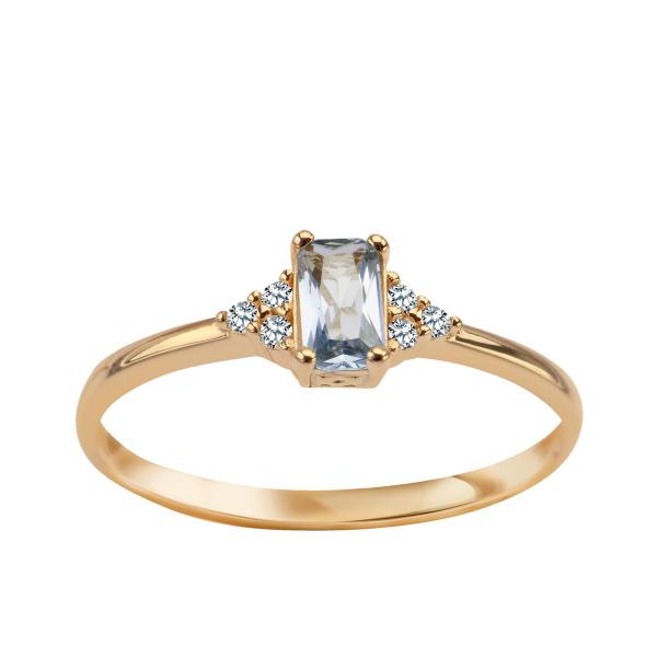 Zdjęcie Złoty pierścionek z cyrkoniami #1