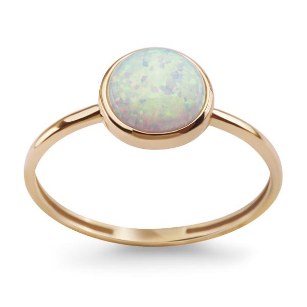 Zdjęcie Złoty pierścionek z opalitem #1