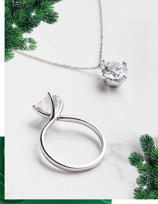 Diament-Idealny-YES-Kolekcja-Valentine-Biale-Zloto-Pierscionek-Zareczynowy-z-Diamentem