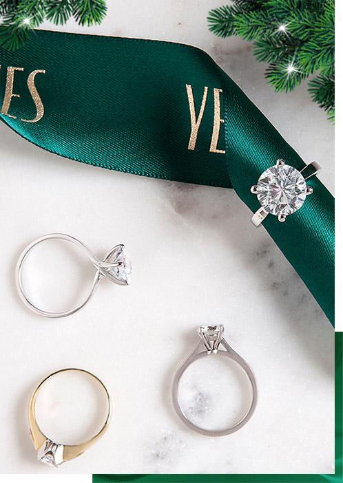 Diament-Idealny-YES-Kolekcje-Zareczynowe-Biale-Zloto-Solitery