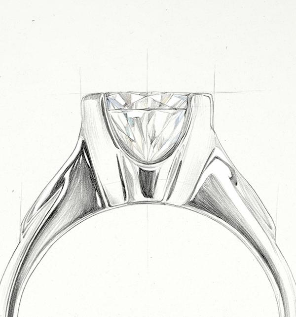 kolekcja-amore-szkic-pierscionka-zareczynowego-zloto-Diament-Idealny-YES