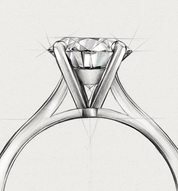 kolekcja-eternel-pierscionek-zareczynowy-z-diamentem-Diament-Idealny-YES-szkic