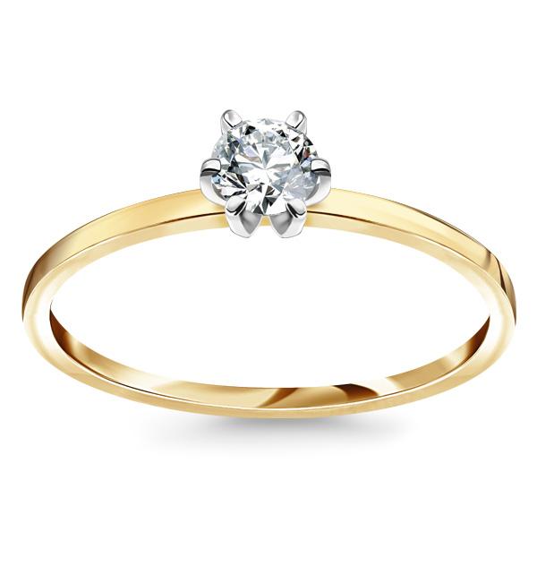 kolekcja-lotos-pierscionek-zareczynowy-z-diamentem-zolte-zloto-Diament-Idealny-YES