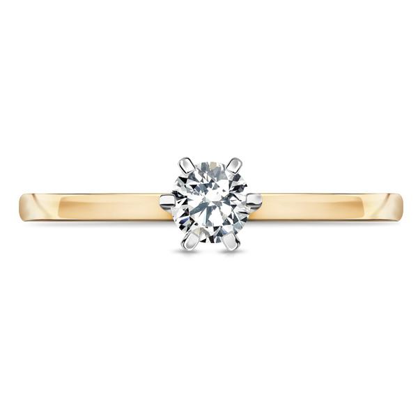 kolekcja-lotos-pierscionek-zareczynowy-z-zoltego-zlota-z-diamentem-Diament-Idealny-YES-niezwykly-blask