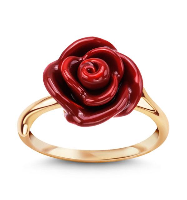 kolekcja-rosarium-srebrny-pozlacany-pierscionek-z-motywem-czerwonej-emaliowanej-rozy-symbol-energii-milosci