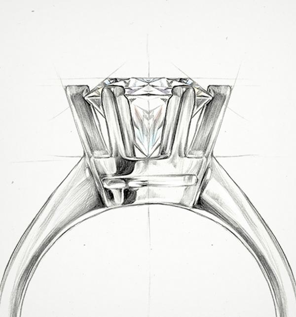 kolekcja-stella-pierscionek-zareczynowy-z-diamentem-Diament-Idealny-YES-szkic